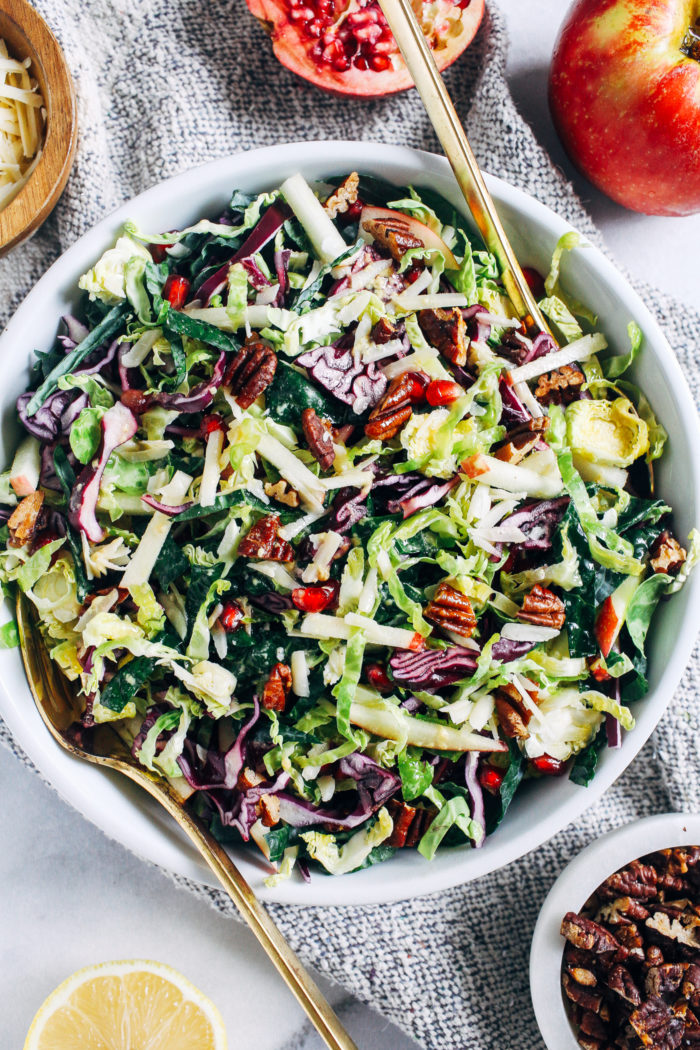 The Ultimate Fall Salad- made with a combination of fall's best produce, this colorful salad is bursting withdelicious texture andflavor. Perfect for your holiday table or to prep for healthy lunches!