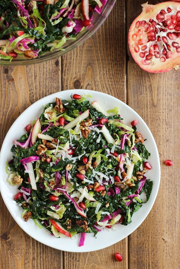 The Ultimate Fall Salad: a combination of fall's best produce tossed in an apple cider vinaigrette! #glutenfree #vegan #detox #kale | Making Thyme for Health