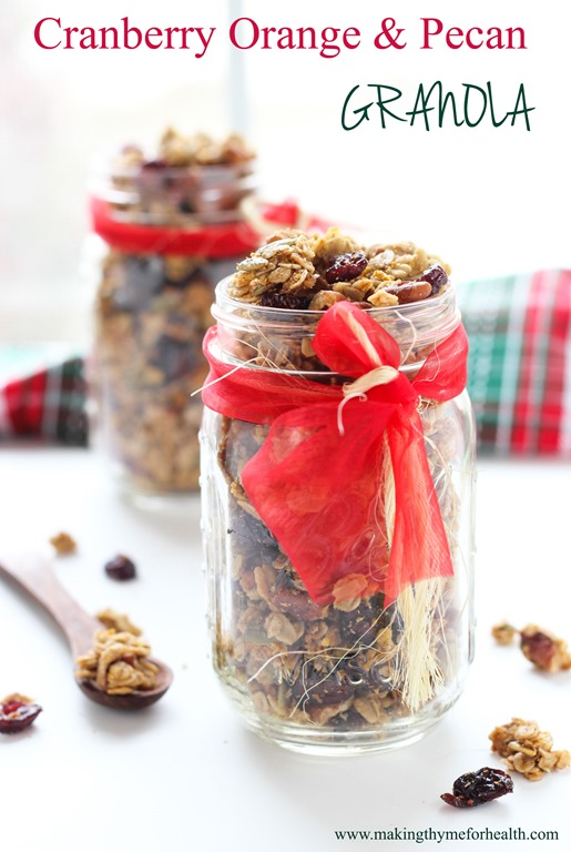 Cranberry Orange and Pecan Granola - Making Thyme for Health