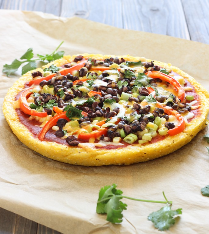 Mexican Polenta Pizza Recipe — Dishmaps