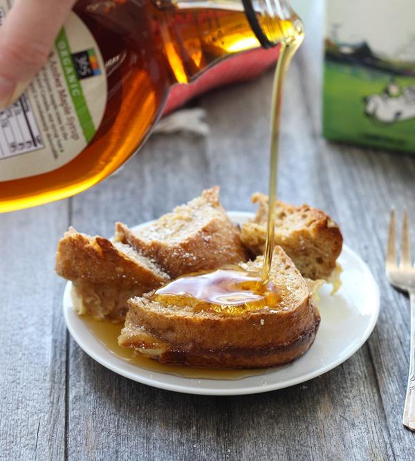 Overnight Eggnog French Toast Casserole