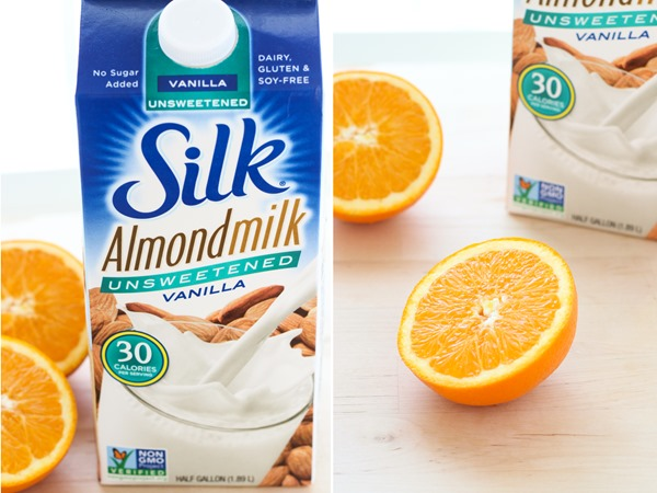 Fresh Orange Creamsicle Smoothie- a plant-powered smoothie packed with calcium and vitamin c! #vegan #nodairy @lovemysilk