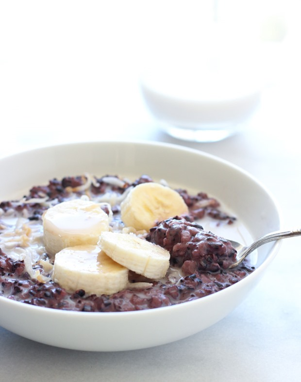 Forbidden Black Rice Breakfast Pudding | makingthymeforhealth.com #vegan #glutenfree