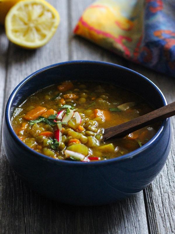 Healing Morrocan Lentil Soup #vegan #glutenfree