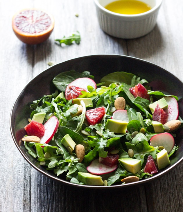 Orange Avocado and Arugula Salad | makingthymeforhealth.com