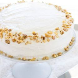 Carrot Cake with Greek Yogurt and Cream Cheese Frosting