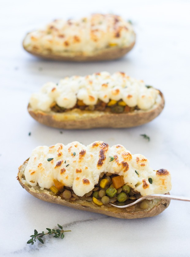 Twice Baked Lentil Shepherd's Pie Potatoes – Making Thyme for ...