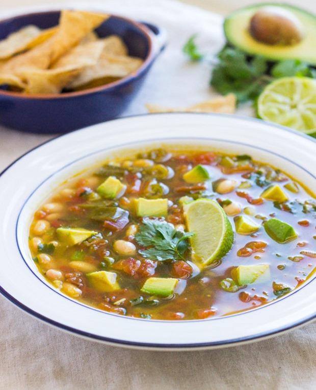 White Bean, Avocado & Lime Soup #vegetarian #vegan #grainfree
