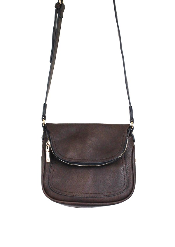 Crossbody Vegan Purse Brown