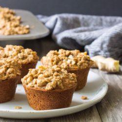 Fresh Ginger Oatmeal Crumb Muffins