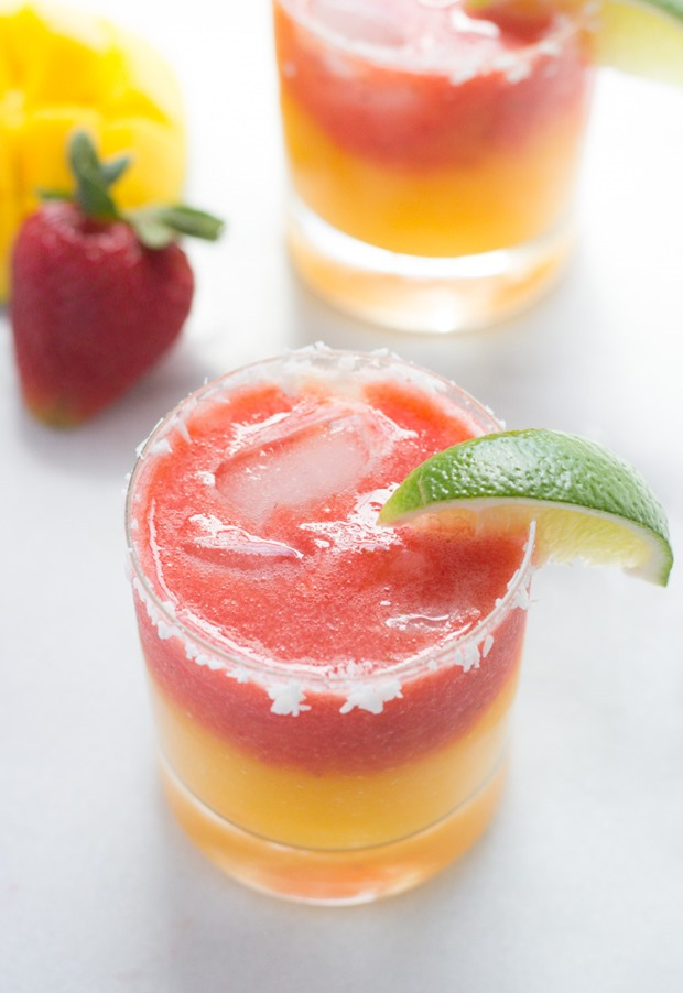 Fresh Strawberry Mango Margaritas