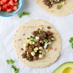 Black Bean Pecan Tacos with Lime Pepita Cream