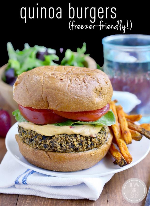 Quinoa Burgers via @iowagirleats