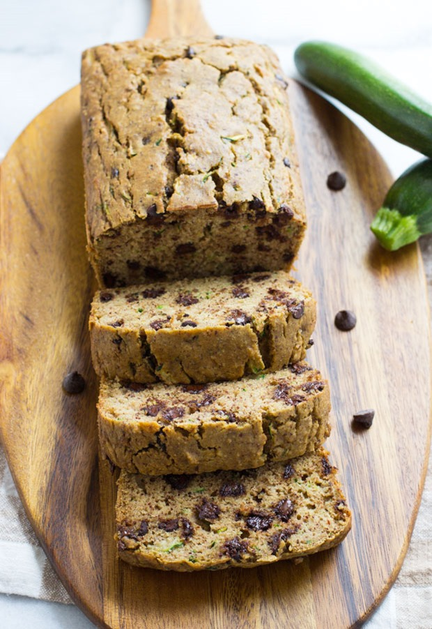 Gluten-free Zucchini Bread- made without any starches, gums, or refined sugar! #cleaneating