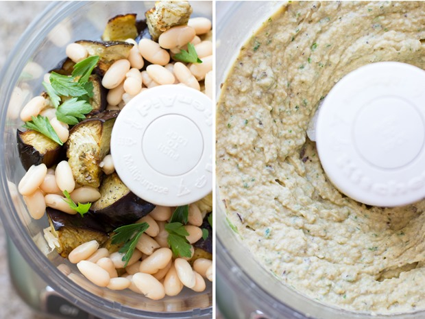 Easy Roasted Eggplant Dip #vegan #glutenfree