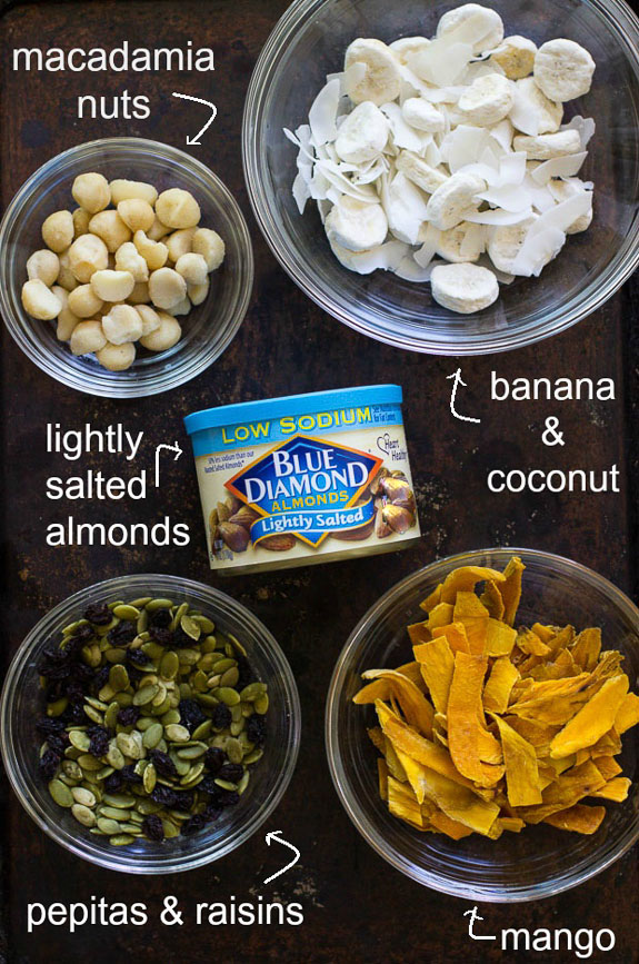 Tropical Trail Mix- perfect to take for a hike or a healthy snack on the beach! #grainfree #cleaneating #ad_
