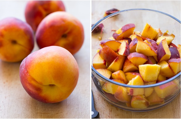 Fresh Peach Sorbet - Making Thyme for Health
