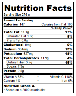 Pasta Caponata Nutrition Facts