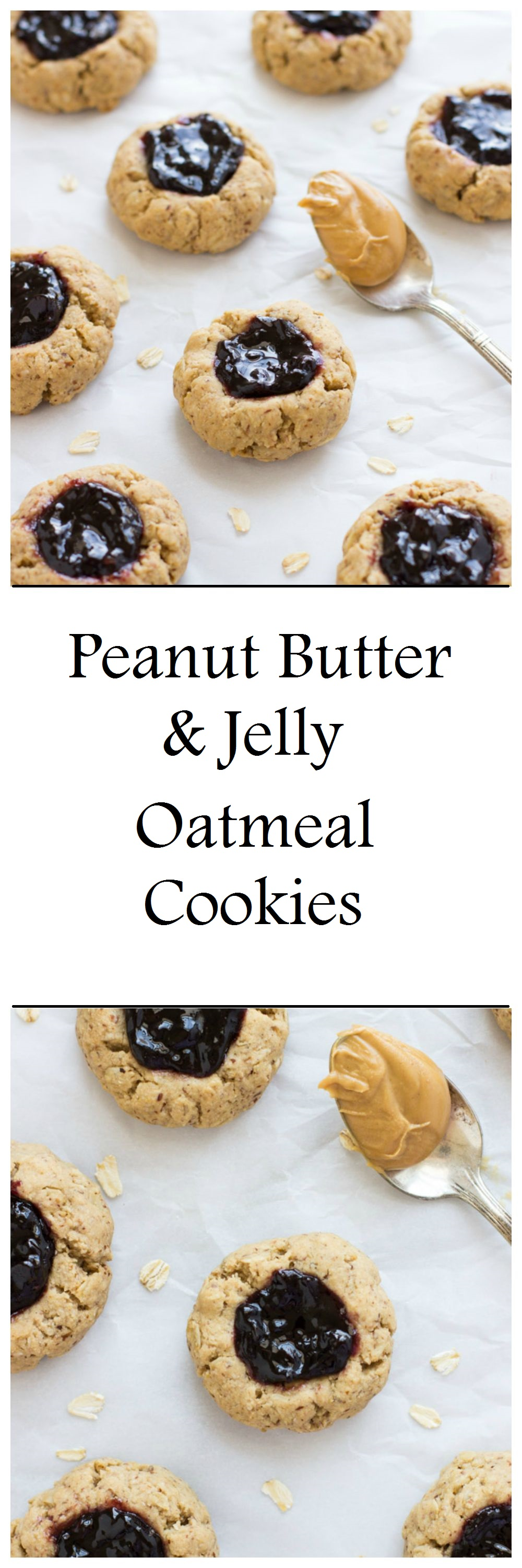 Peanut Butter & Jelly Oatmeal Cookies - Making Thyme for ...