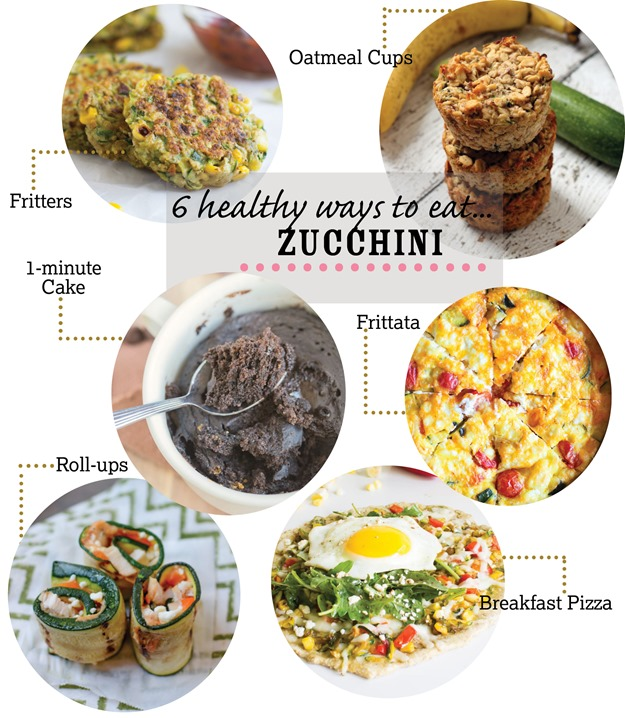 6 Healthy Ways to Eat Zucchini! #cleaneating