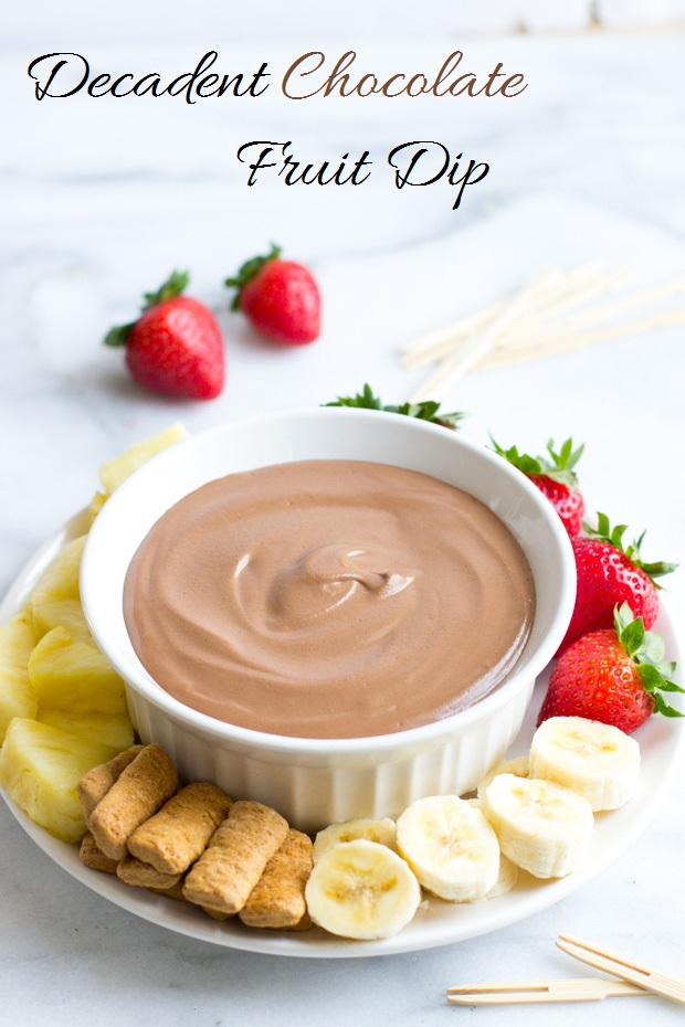 5 Minute Decadent Chocolate Fruit Dip