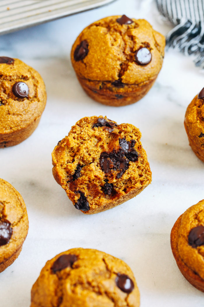 These Healthy Flourless Pumpkin Muffins are moist, delicious, and super easy to make. Gluten-free, oil-free, dairy-free, and refined sugar-free!