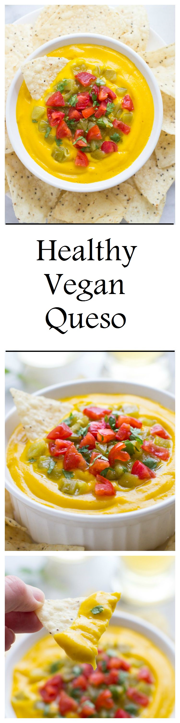 Healthy Vegan Queso- super silky and so delicious! #nutfree #dairyfree #paleo