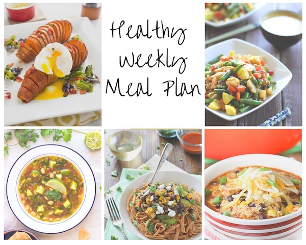 Healthy Weekly Meal Plan Collage 9.19