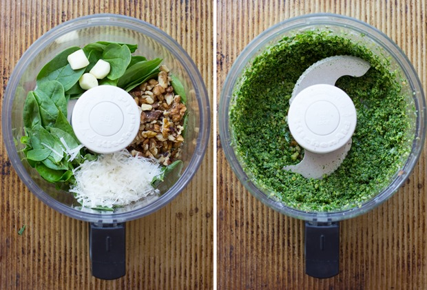Spinach Basil Pesto #cleaneating