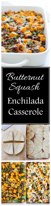 Butternut Squash Enchilada Casserole