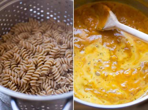 The Best Pumpkin Macaroni and Cheese- so rich and creamy, you would know it's dairy-free! #vegan #cleaneating