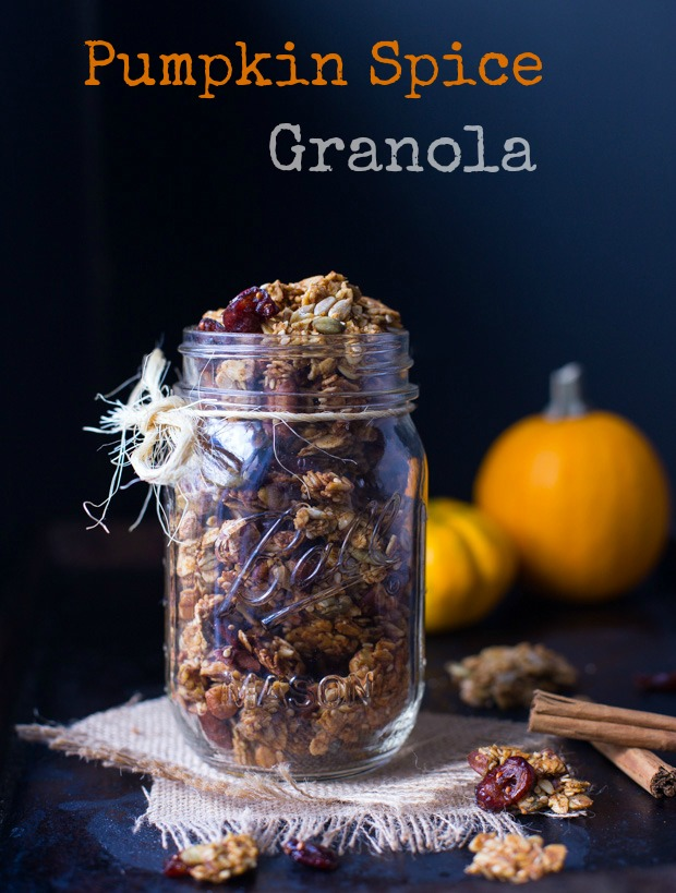 Pumpkin Spice Granola- tastes amazing and makes your house smell incredible! #refinedsugarfree