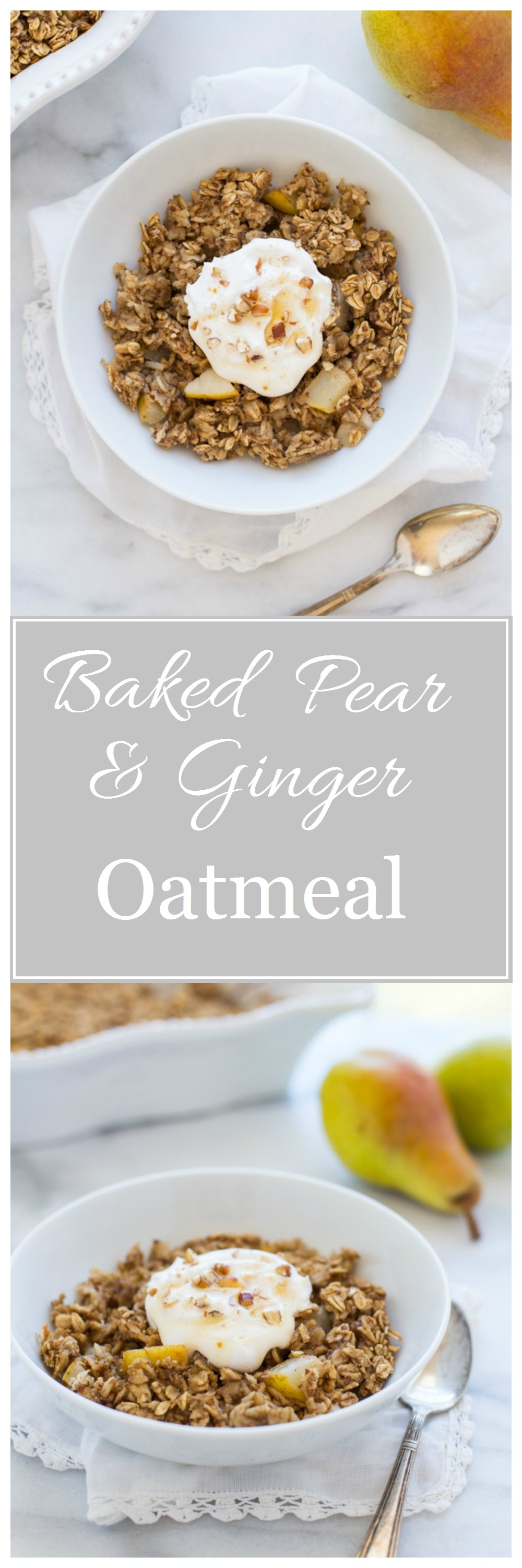 Baked Ginger Pear Oatmeal 0008
