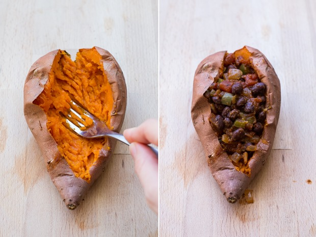 Black Bean Chipotle Stuffed Sweet Potatoes- an easy and healthy diner that's packed with antioxidants and protein! (vegan, gluten-free, and grain-free)