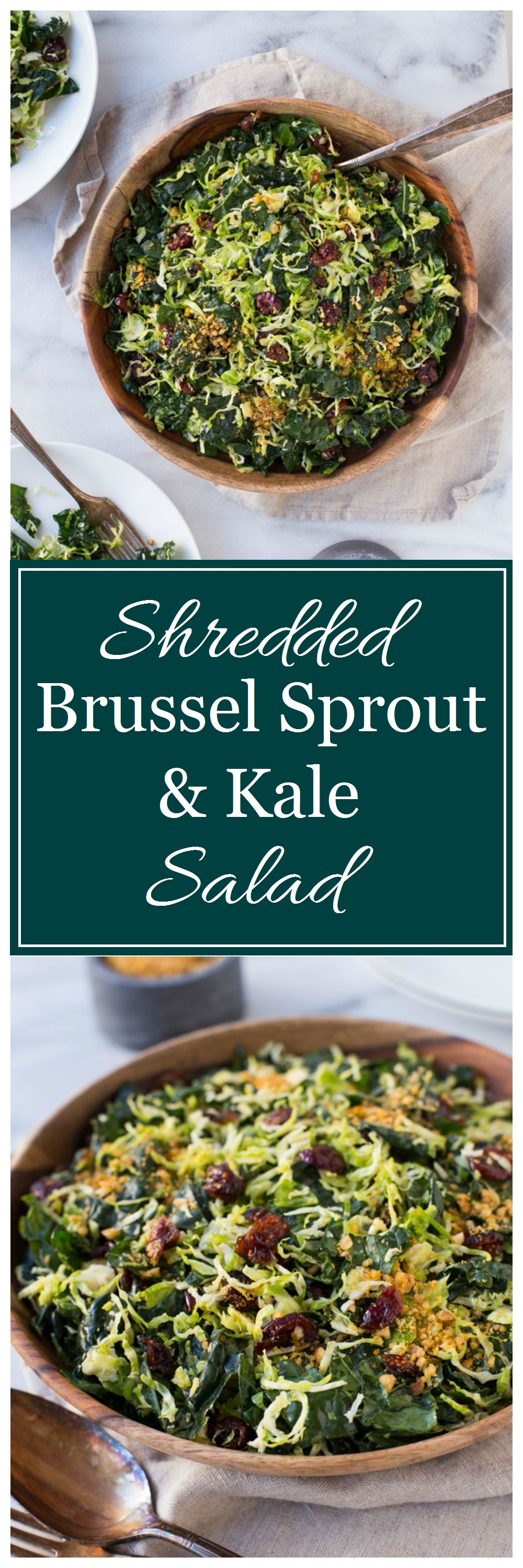Shredded Brussel Sprout and Kale Salad 180