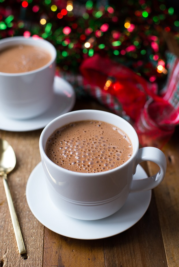 The Best Vegan Hot Chocolate- super creamy and naturally sweetened too! (soy-free)