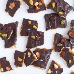 Salted Caramel Dark Chocolate Matzo Bark
