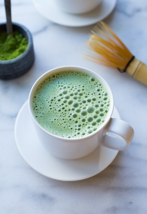 Two Ingredient Vanilla Almond Milk Matcha