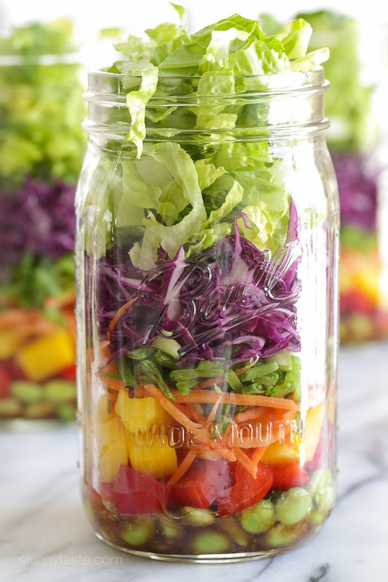 Chopped Asian Salad in a Jar