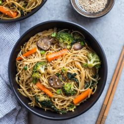 Easy Winter Vegetable Lo Mein