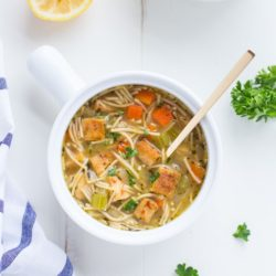 Tofu 'Chicken' Noodle Soup