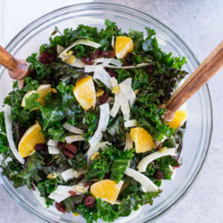 Winter Kale Salad with Shaved Fennel and Orange