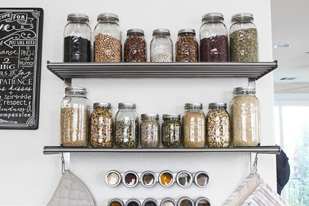 Affordable Ikea Shelves for Wall Pantry Storage