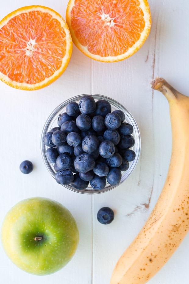 This Blueberry Sunshine Smoothie is packed full of skin-glowing antioxidants and 250% of your daily value of vitamin C. It's the perfect way to brighten your morning!