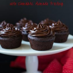 Chocolate Beet Cupcakes with Chocolate Avocado Frosting