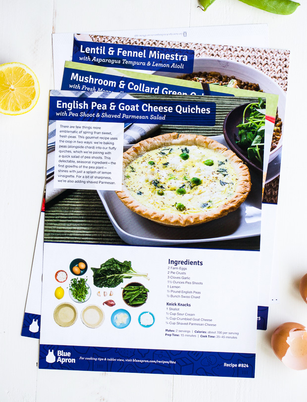 english pea & goat cheese quiches | www.makingthymeforhealth.com