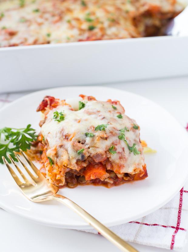 Vegetarian Stuffed Cabbage Casserole