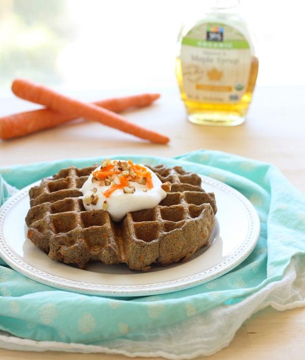Vegan Carrot Cake Waffles For Travel
