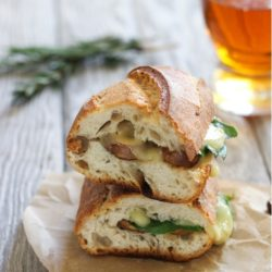 Balsamic Mushroom Rosemary Spinach & Fontina Grilled Cheese