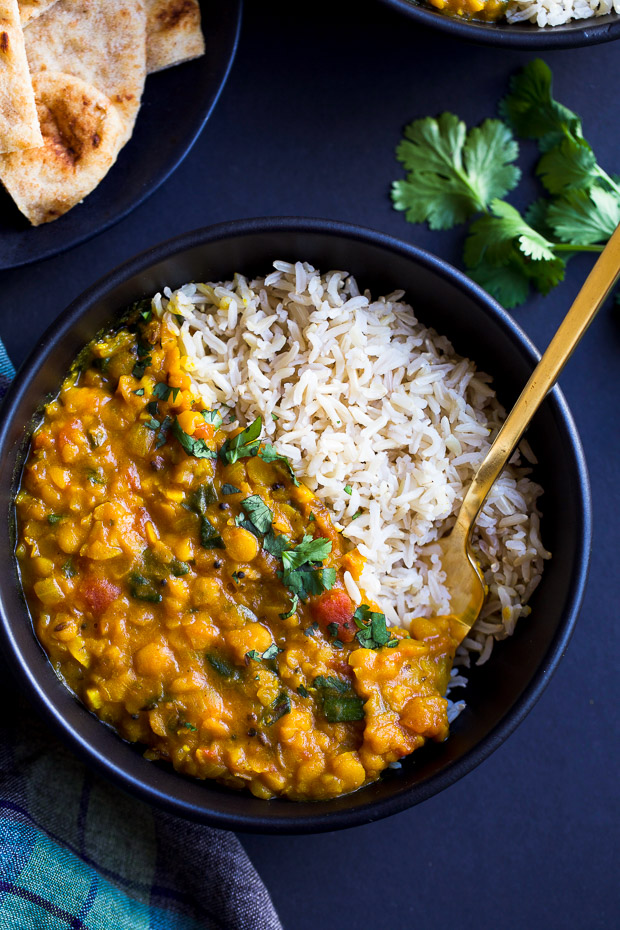 One Pot Spinach Dal from Making Thyme for Health